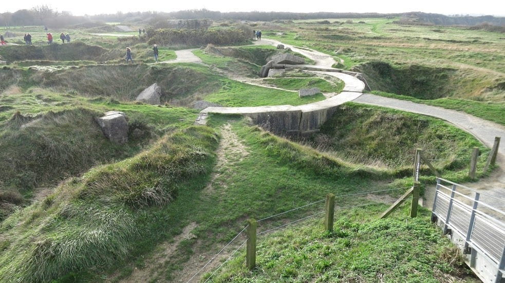 Pointe du Hoc on a d day tour of normandy