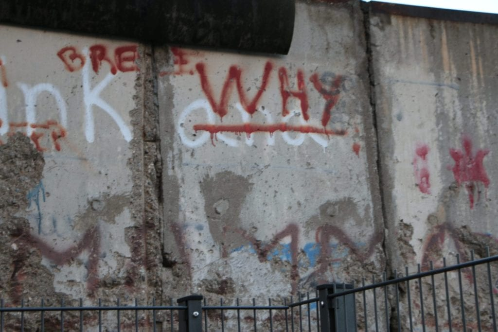 Graffiti on the remains of the Berlin Wall