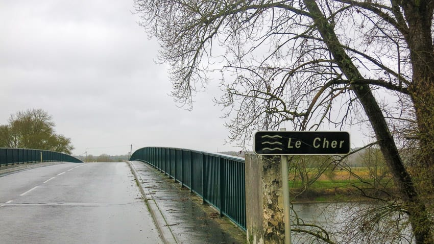 The Cher River was the demarcation line in WWII France. It cut the Loire Valley in two.