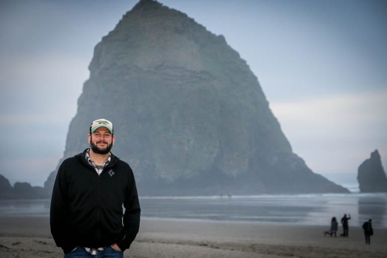 my partner at haystack rock before being diagnosed with cancer