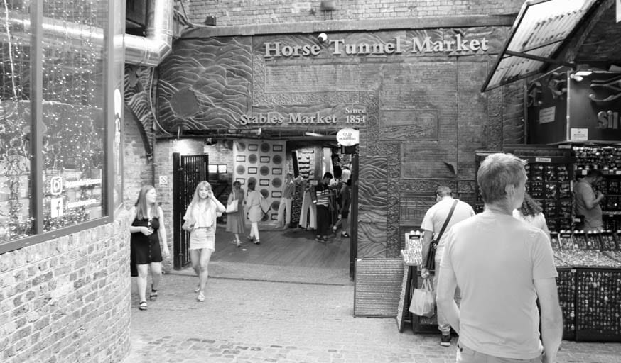 The  Horse Tunnel Market in Camden Town