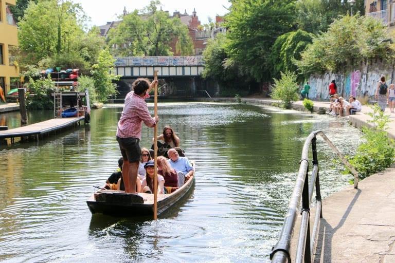 A gondola on Regent's Canal