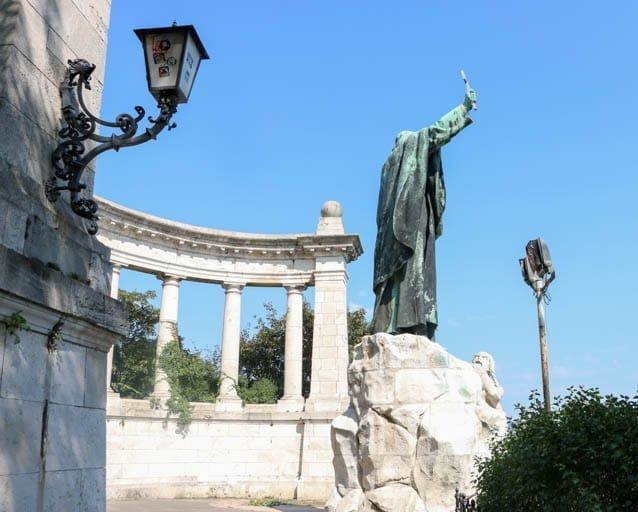 They say that Saint Gerard was thrown from this spot on Gellert Hill in Budapest