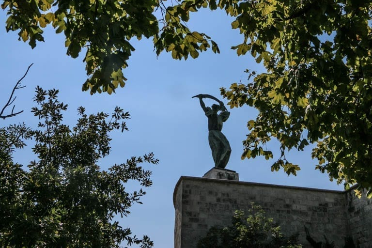 A walking tour of Budapest leads you to Hungary's Liberty Monument at the top of Gellert Hill