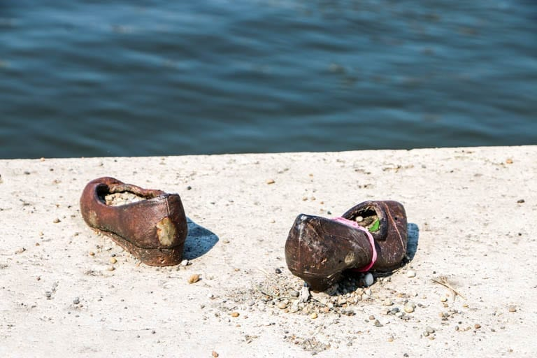 The shoes on the danube memorial in budapest