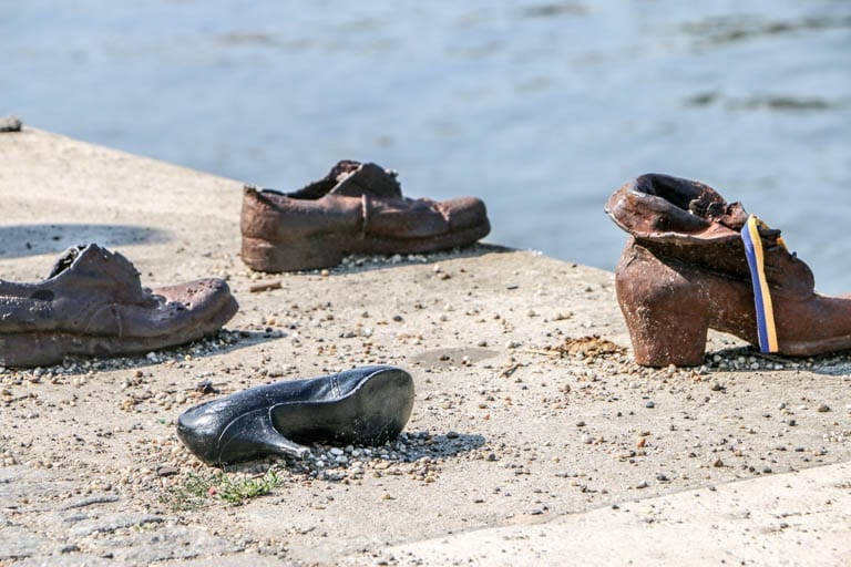 the shoes on the danube is a powerful memorial in budapest