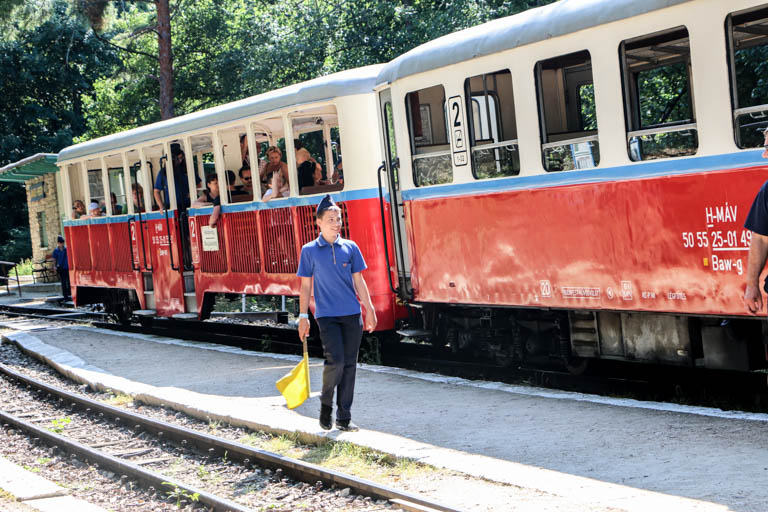 The children's railway on a tour to Budapest