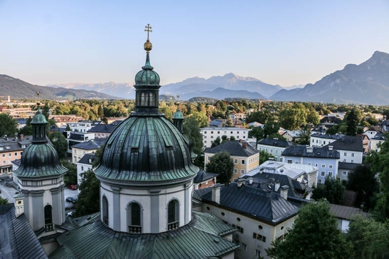 A view of Salzburg on a self-guided walking tour