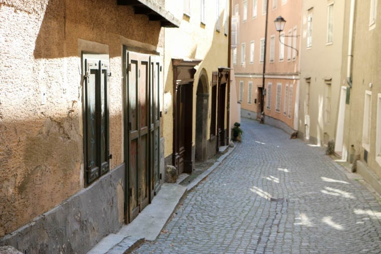Steingasse was a medieval route for carrying salt from the Salzburg salt mines and travelers to and from Italy and beyond