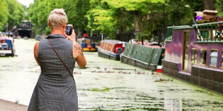 a canal walk in London