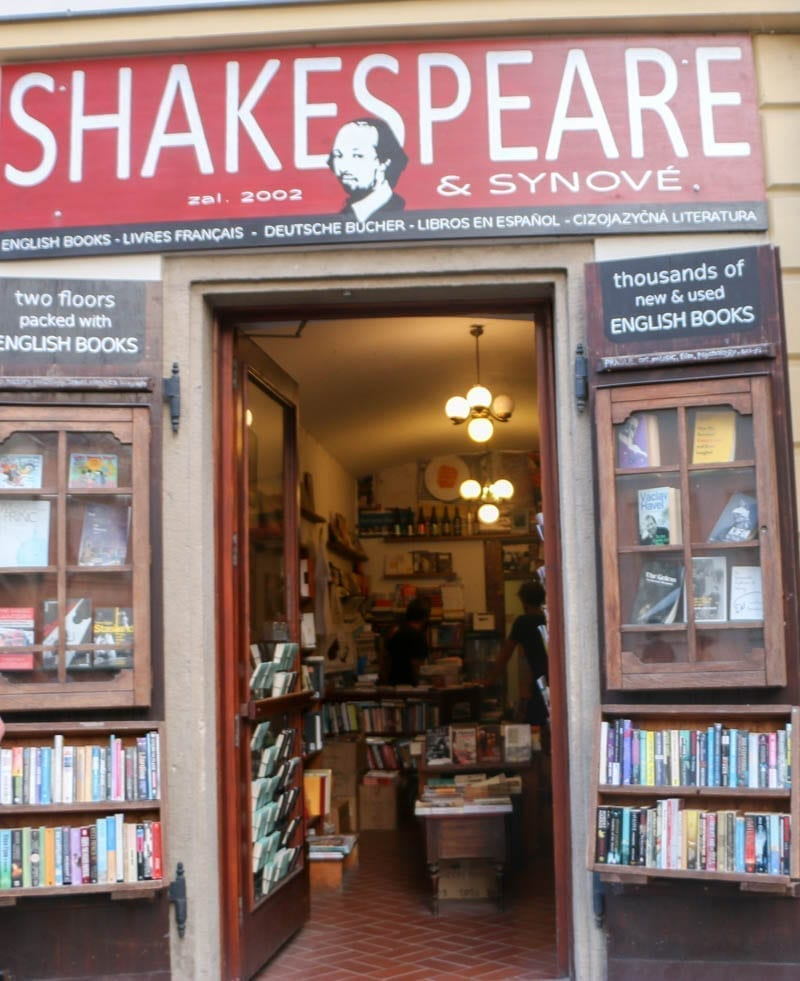 Shakespeare & Sons Bookstore in Prague