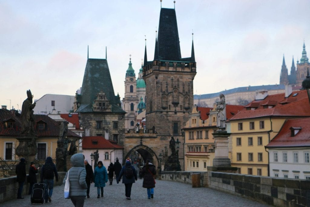 The Charles Bridge is a beautiful part of any walking tour of Prague