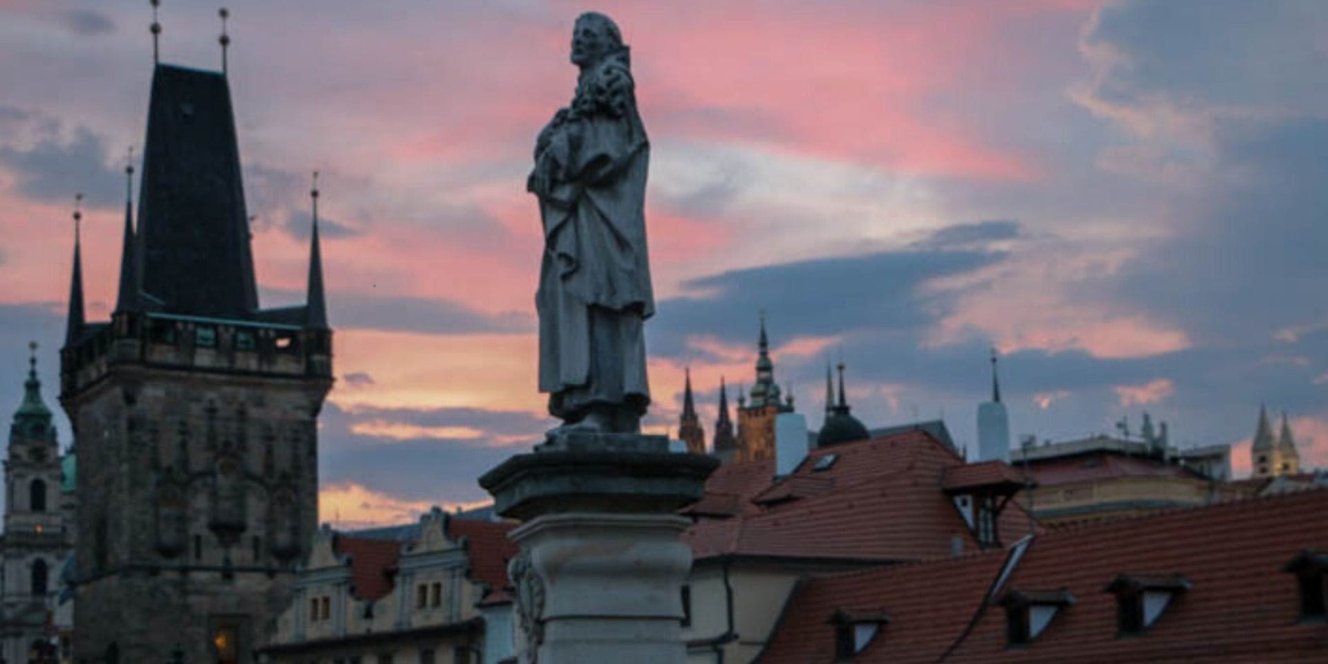 charles bridge on a walking tour of prague