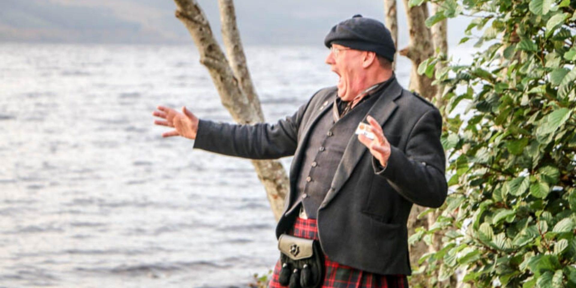 highlander in the scottish highlands