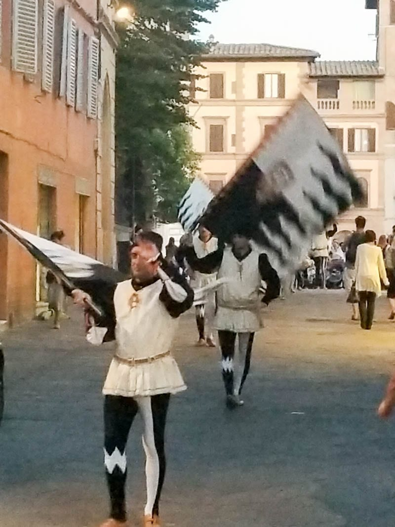Contrade celebration in Siena