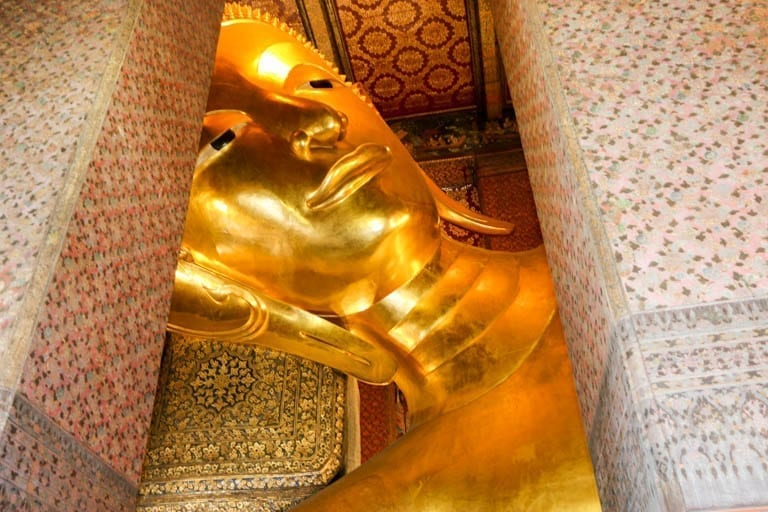 The Reclining Buddha at Wat Pho in Bangkok.