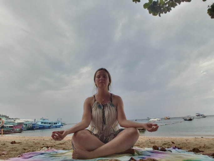 Meditating on Koh Tao on a solo trip to Thailand