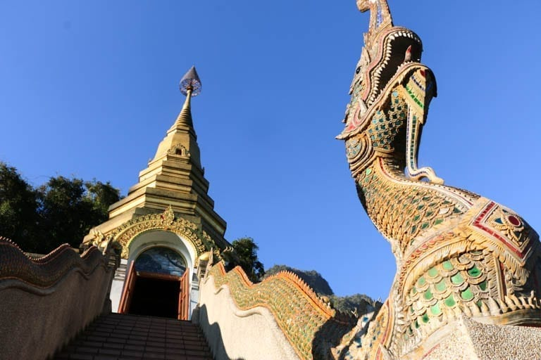 A view of Wat Tham Pha Plong in Chiang Dao