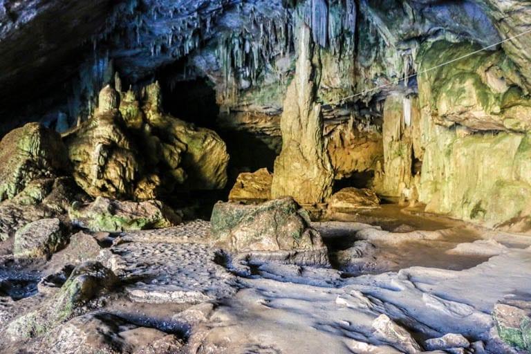 stalagmites in Tham Lot