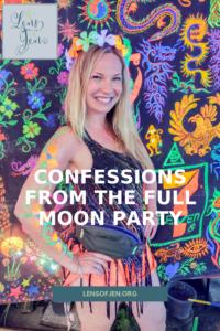 Full Moon Party fluorescent paint