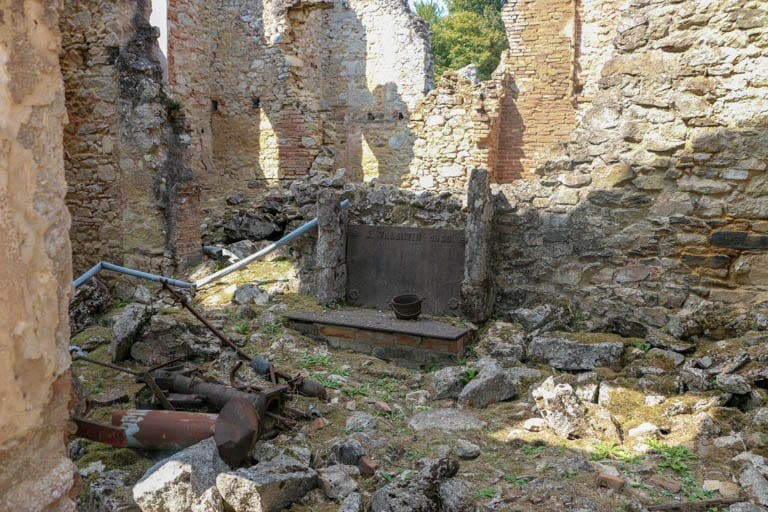 This used to be a home in Oradour-sur-Glane, the martyr village of France