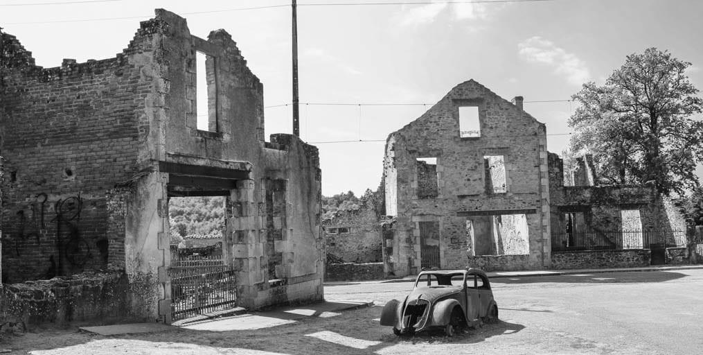 Remains of Oradour-sur-Glane after the June 10, 1944 massacre.