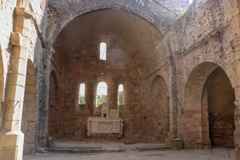 Inside the ruined church of the martyr village of France. Visiting the memorial helps us understand what happened at Oradour-sur-Glane