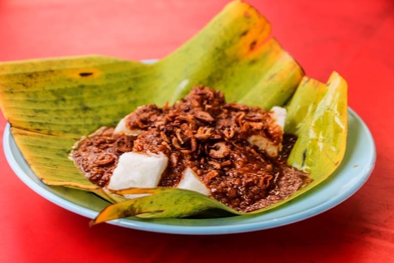 Rice Cake is a satay special at Kuala Lumpur street food stands
