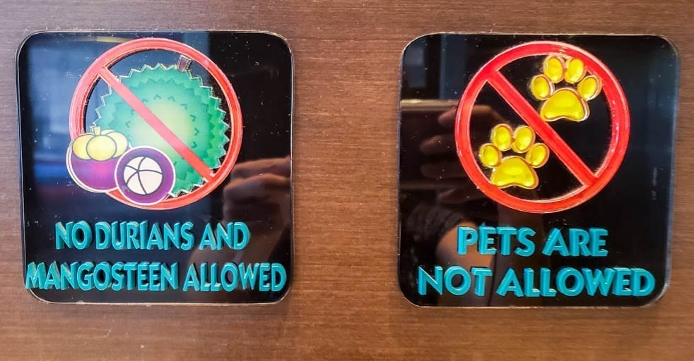 The forbidden fruits of Durian and Mangosteen are not allowed in many hotels in Asia