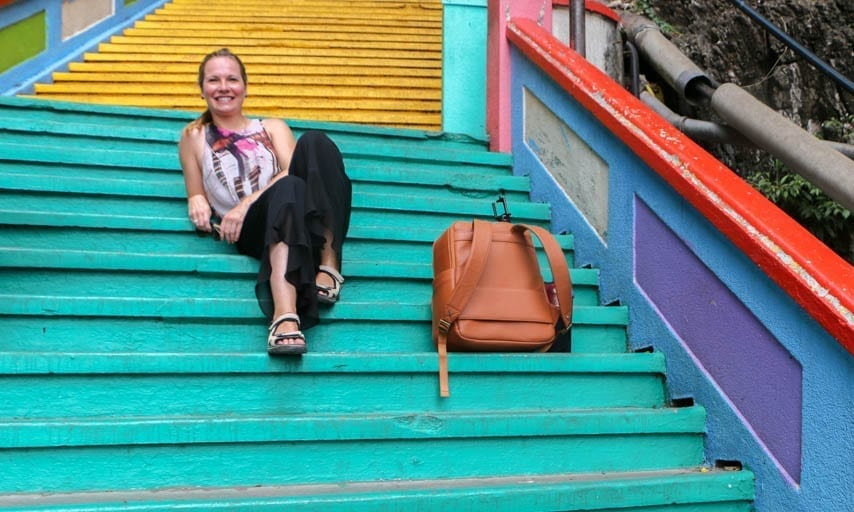 Colorful stairs at the Batu Caves