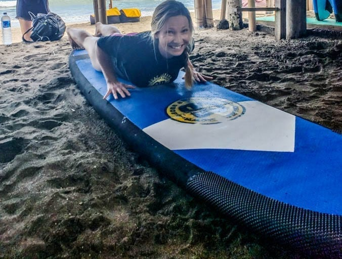 Surf lessons in Canggu