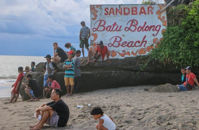 Watch sunset in Canggu at the Sand Bar