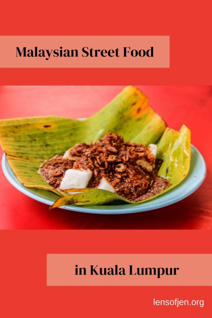 Pin for Pinterest with Malaysian street food