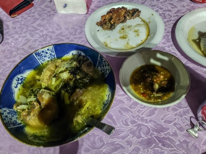 Traditional meal during Khmer New Year