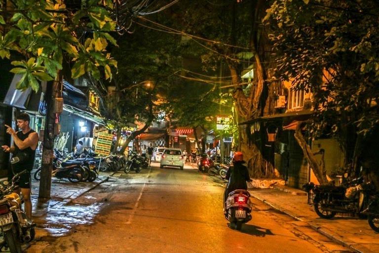 A typical Hanoi street scene showcasing Life on the Hanoi Train Tracks