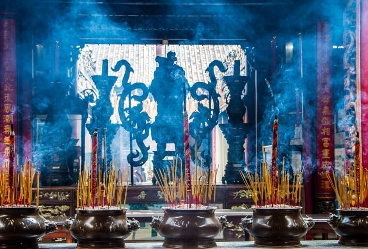 Making a wish in Southeast Asia involves incense, especially in Vietnam.