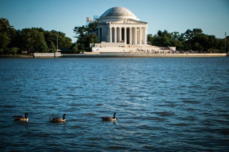 Thomas Jefferson Memorial where I spent a one-year death anniversary