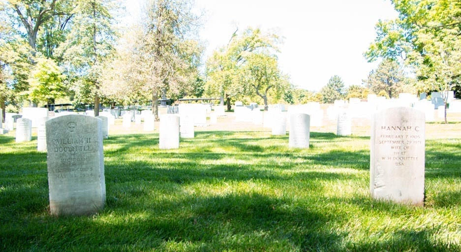 Arlington National Cemetery where I spent a one-year death anniversary