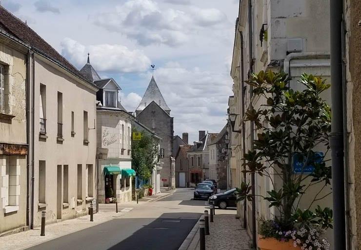 The downtown of Saint-Martin-le-Beau