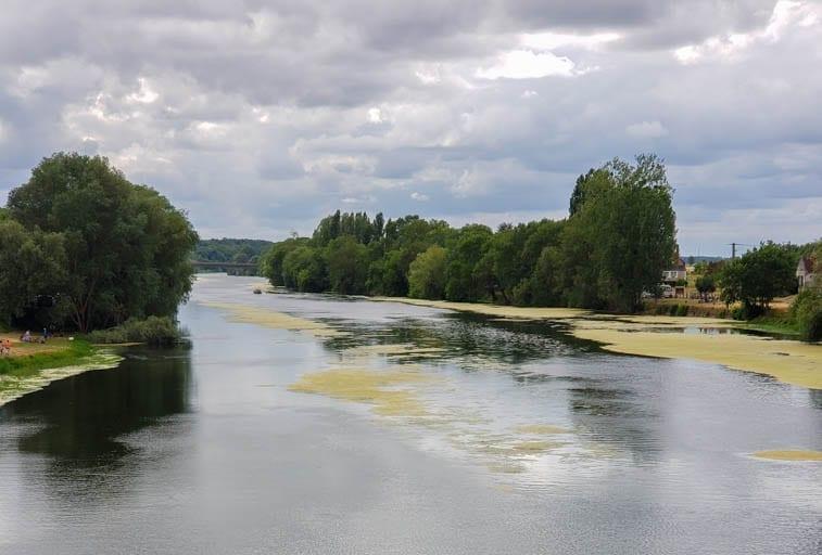 The River Cher in Saint-Martin-le-Beau