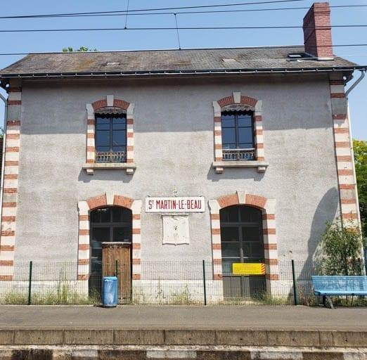 The train station at Saint-Martin-le-Beau