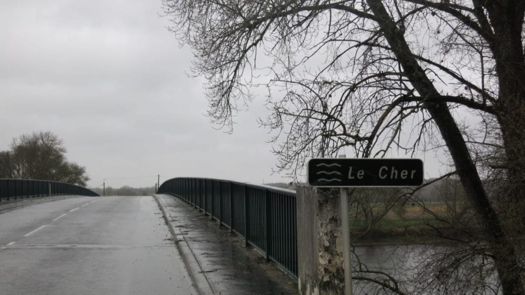 The River Cher- a demarcation line.