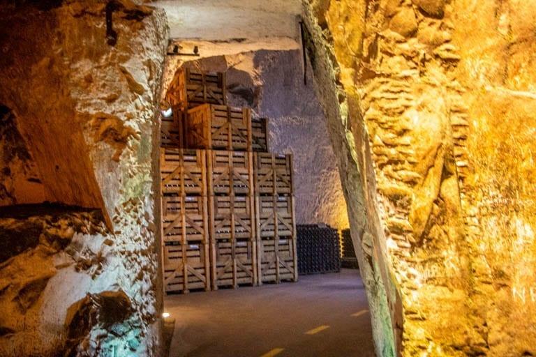 the wine cellars of the Veuve Cliquot