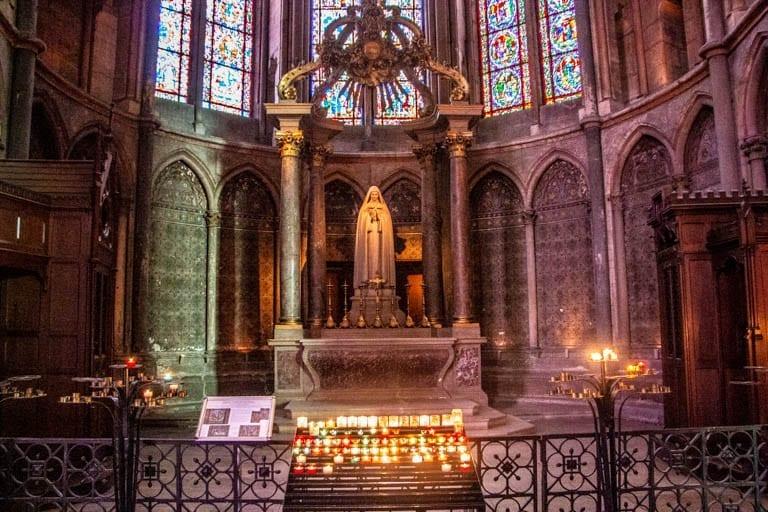The alter of the Cathédrale Notre-Dame de Reims