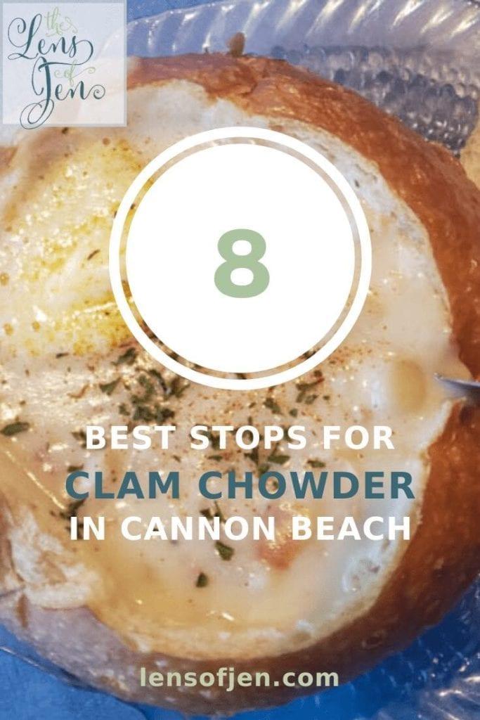 Cannon Beach, Oregon clam chowder