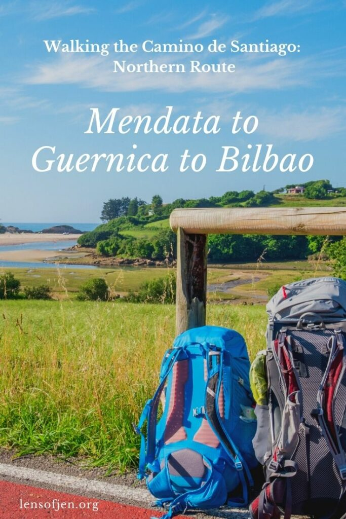 Pin for Pinterest on walking the Camino from Mendata to Bilbao