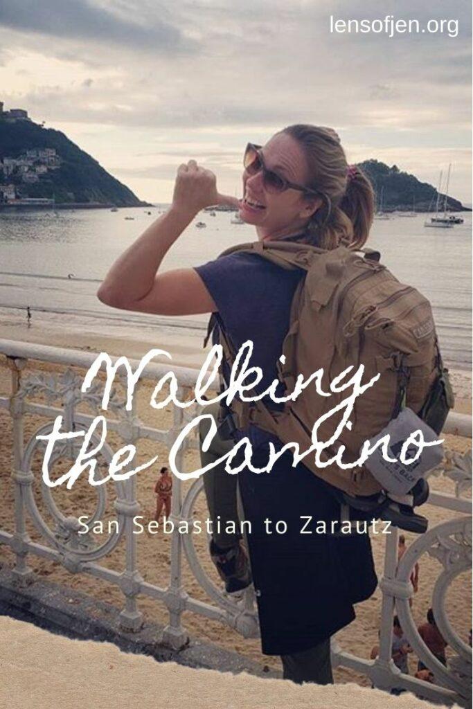 Pin for Pinterest on walking the Camino del Norte San Sebastian to Zarautz
