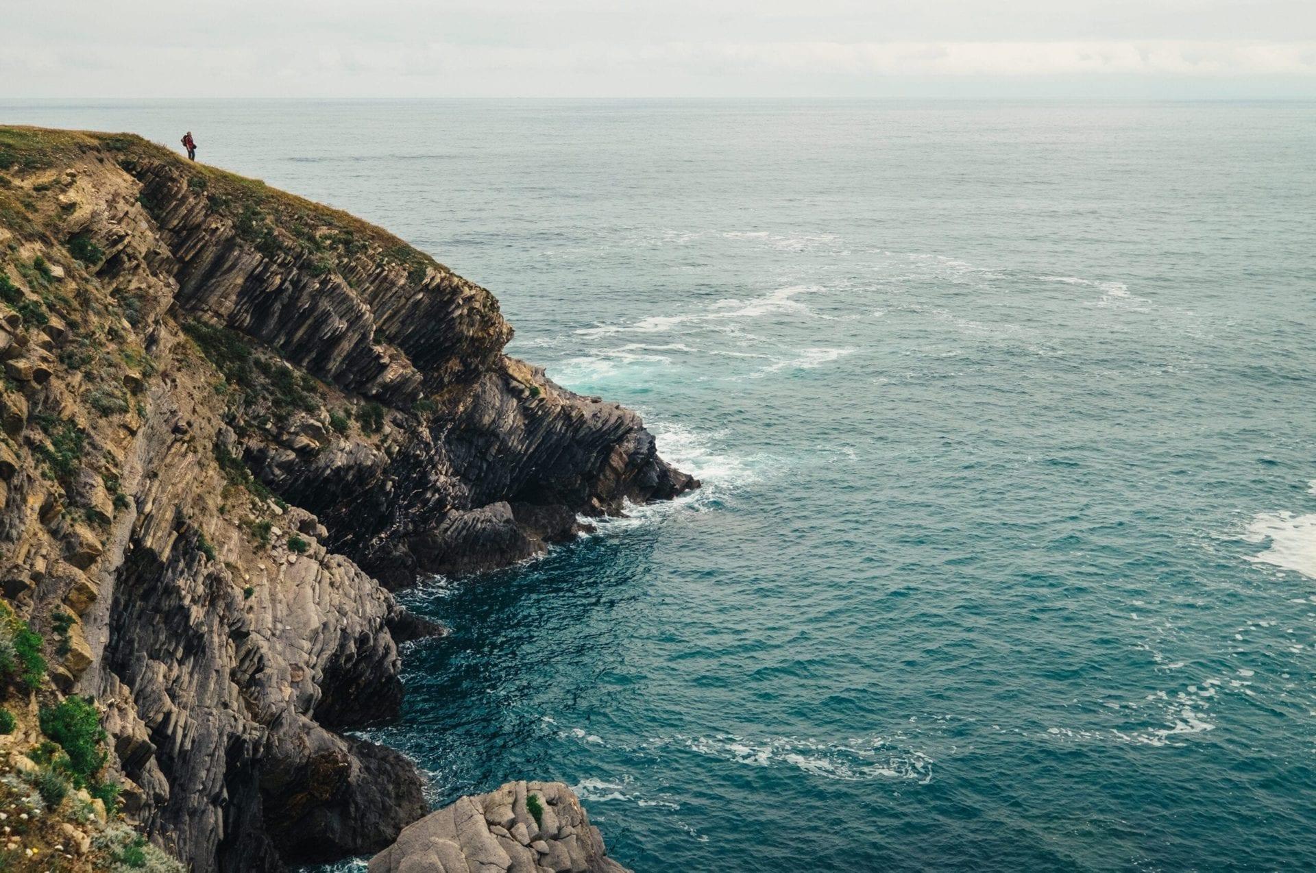 Camino de Santiago rocky cliff