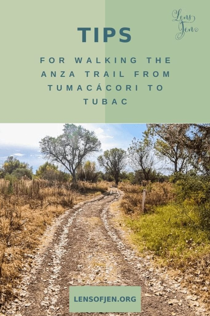 The Anza Hiking Trail in Arizona between Tumacacori and Tubac Presidio State Park