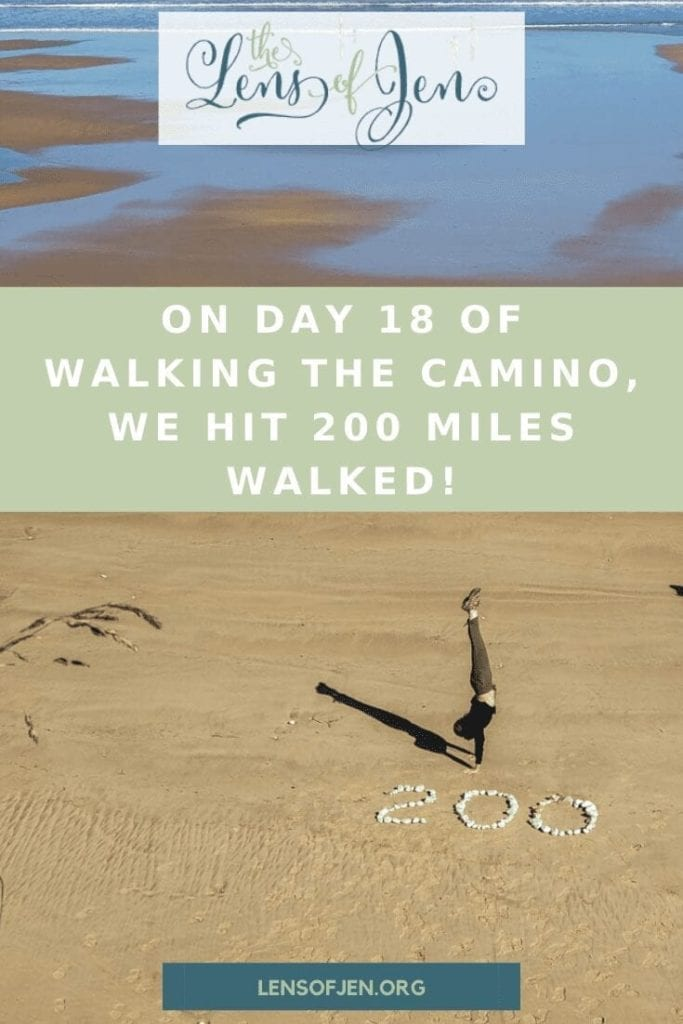 Pin of making 200 miles on the camino del norte